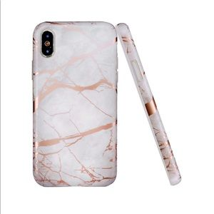 🌸 IPHONE Case | Rose Gold Marble